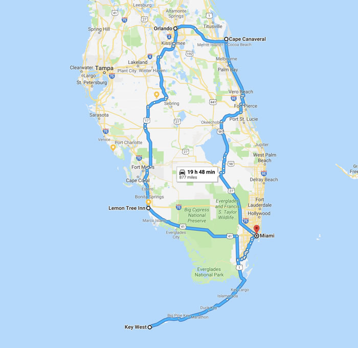 Popular Motorcycle Route Covers Scenic Spots of Florida