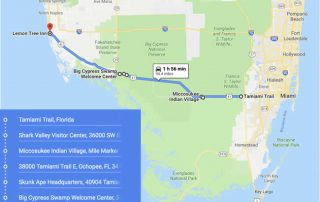 Map of Tamiami Trail
