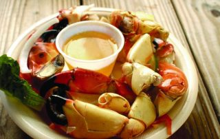 Stone Crabs on a plate